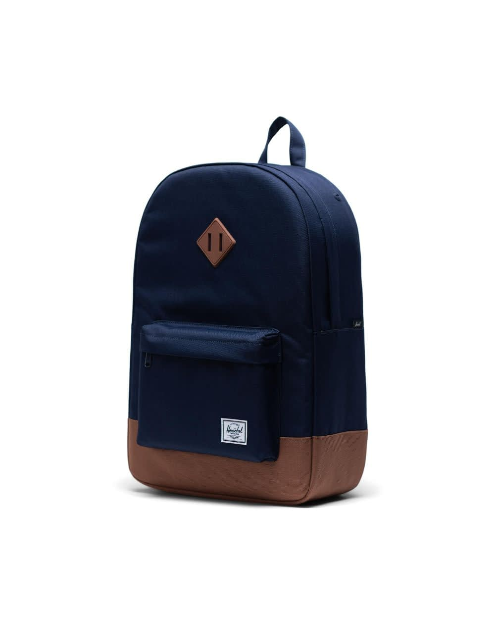 Heritage backpack in navy blue and tan