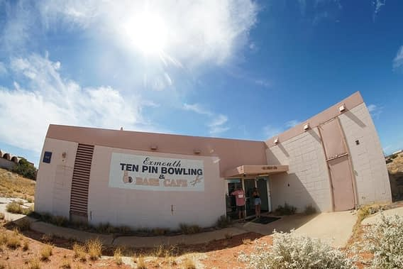 things to do in exmouth is view the old US base builidngs like ten pin bowling