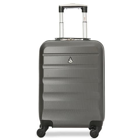 Aerolite cabin hand luggage on wheels in charcoal colour