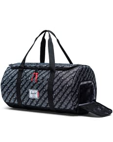 Sutton carry-all duffle in grey print with shoe compartment