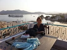 view of udaipur from rooftop